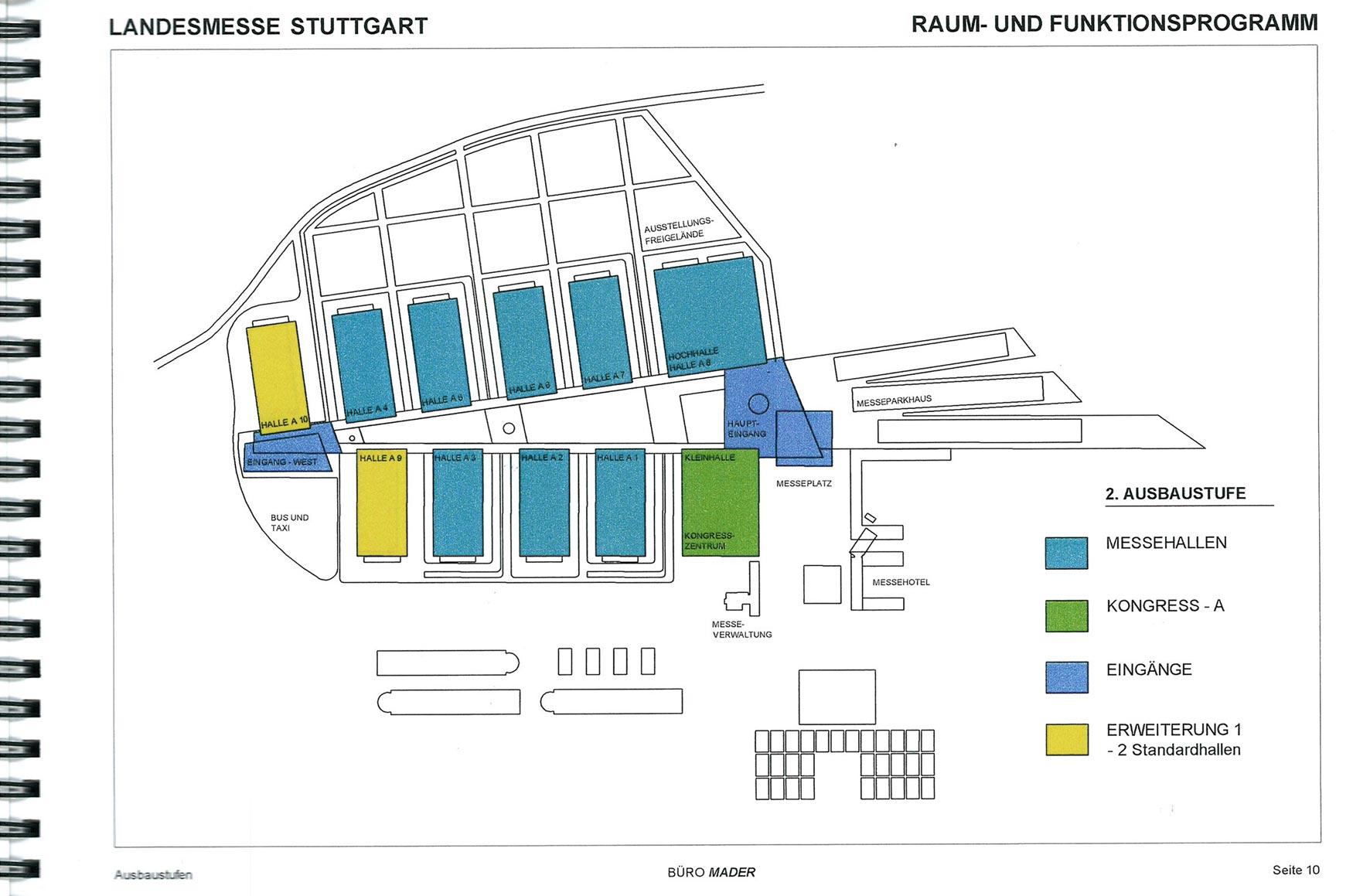 Auf der Grundlage unseres Raum- und Funktionsprogrammes wurde die neue Landesmesse am Stuttgarter Flughafen zu einem der erfolgreichsten Messeplätze und wird bereits nach sieben Jahren nach unserem Konzept erweitert.<br /><br />