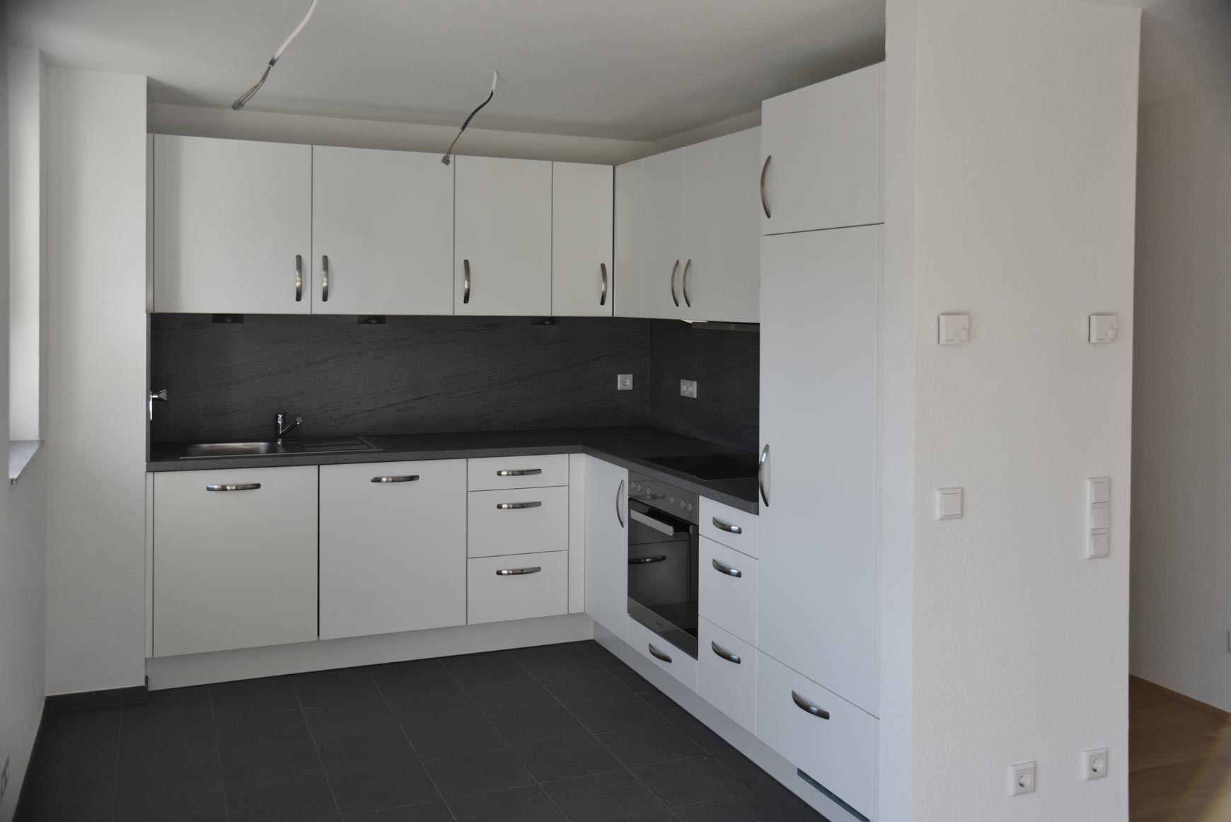 Wohnungen werden mit Küche vermietet