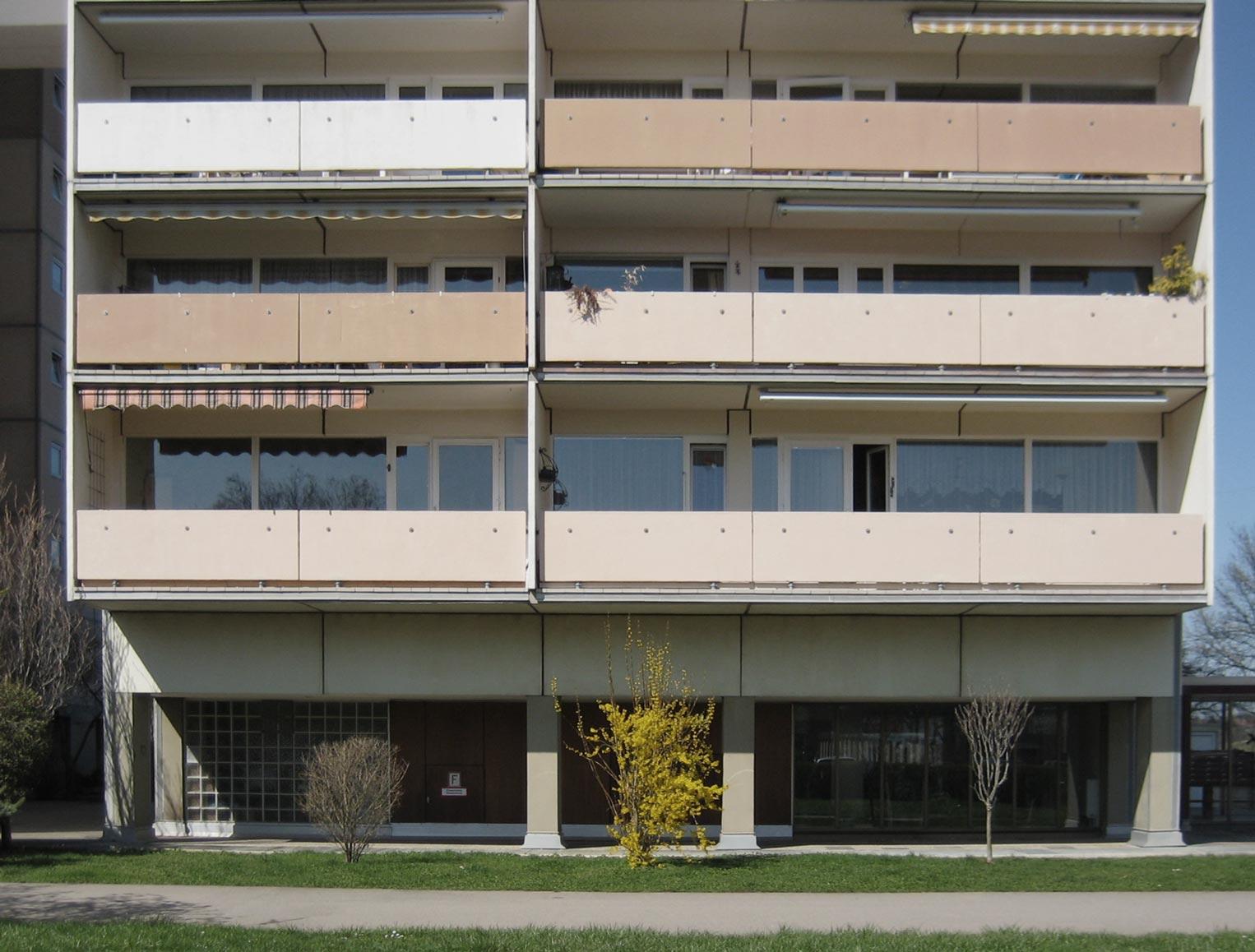 Balkone vor der Sanierung
