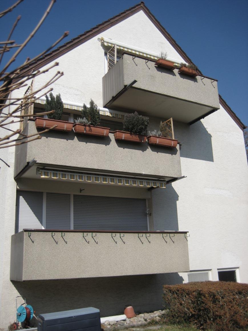 Balkone, unsanierter Zustand